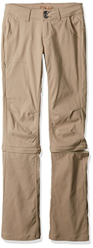prAna Women's Tall Halle Convertible Pants, 16, Dark Khaki - Prana Convertible Pants