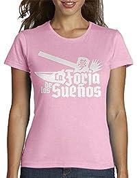 latostadora - Camiseta Naranja para Chica la para Mujer