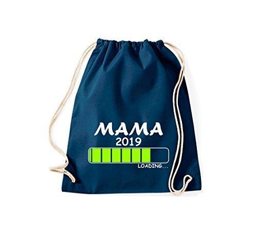 ShirtInStyle Gym Sack Turnbeutel Loading MAMA 2019 Blau