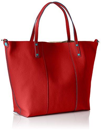 Gabs Damen Lady Henkeltasche, 15x33x51 cm Rot (Rosso)