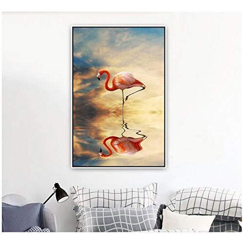 ten Themen Tiere Nordischen Stil Poster Dekoration MalereiWandkunstLeinwandbild Für Wohnzimmer50X70 cm Kein Rahmen ()