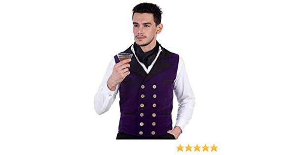 ThePirateDressing Steampunk Victorian Gothic Punk Vampire Royal Vest Costume C1342