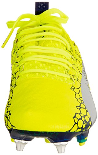 Puma Evopower Vigor 1 Graph MX SG, Chaussures de Football Homme Jaune (Safety Yellow-silver-blue Depths)