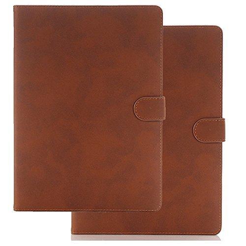 9.7'' iPad Air Hülle, TechCode Luxus PU Leder Zubehör Dünnes Smart Tasche Hülle mit Standfunktion für 9,7 Zoll Apple iPad air (iPad air, Dunkelbraun)
