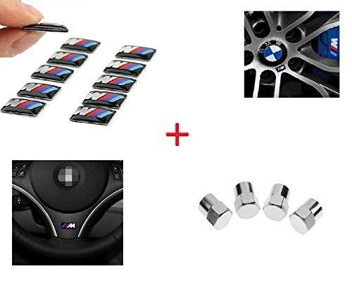 10 Unid 3D Adhesivos Emblema Llantas Volante. Incluye