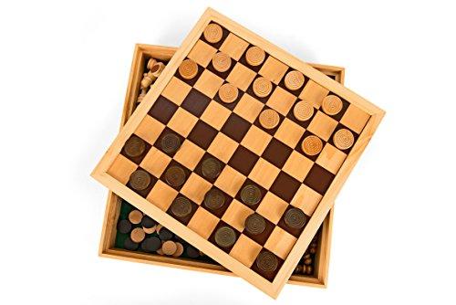 Legnoland-37323-Spiele-aus-Holz-DameSchachMhle-30-x-30-x-4-cm