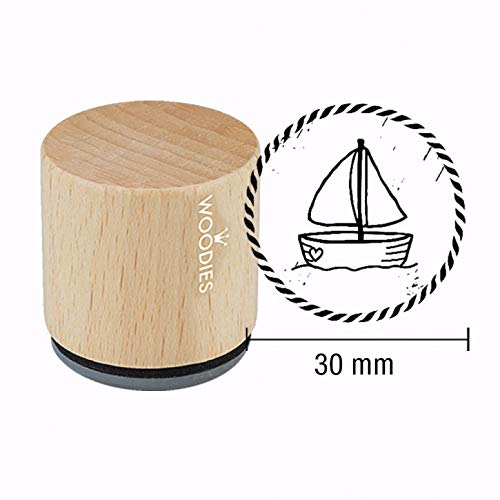 Woodies Motiv-Stempel - Segelboot - Maritim - Eine frische Brise
