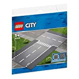 LEGO 60236 City Supplementary Straight and T-Junction Toy Train Tracks for Kids