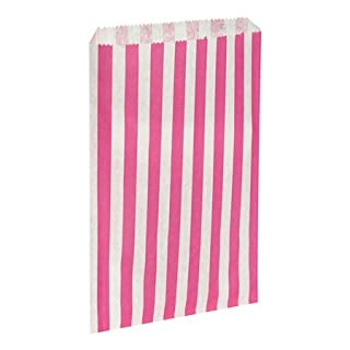 Counter bags, 7x9 pink candy stripe counter bags, pick n mix sweet bags, Packs of 1000 by APL Packaging