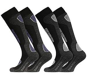 STARK SOUL Ski Funktionssocken, Wintersport Socken mit Spezial Polsterung,...