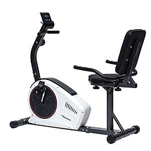 TechFit R450 Cyclette Orizzontale, Recumbent Ergometro Ideale per Allenamento di Recupero, con Sella Regolabile, Sensori a Impulsi e Monitor LCD