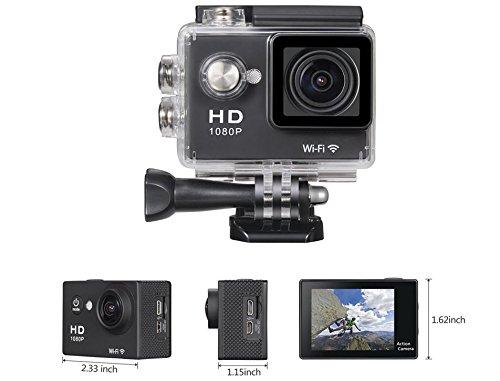LWD cámara de acción Full HD 1080p wifi 2.0inch 170° impermeable buceo...