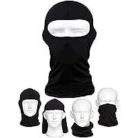 Máscara de bicicleta para al aire libre equitación tácticas pesca a prueba de polvo, máscara para casco de motocicleta frío, máscara esquí máscara marca negro 1 pack