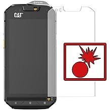 """2 x Slabo Protector de pantalla blindado para Cat S60 """"Shockproof"""" A prueba de golpes Invisible MADE IN GERMANY"""