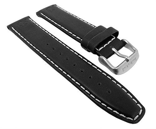 Ersatzband-Uhrenarmband-Leder-Band-schwarz-fr-Timberland-65040G-28136