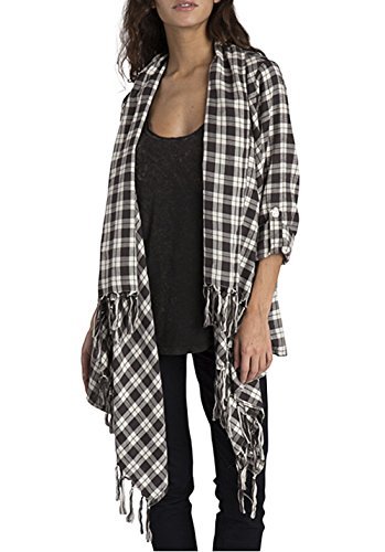 G, s.m. Cardigan donna Billabong Europe - The Love of Plaid, blue tide, L, Z3SH03 BIF6 1931