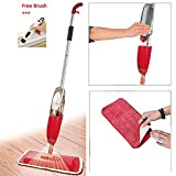 Orpio Floor Mop With Removable Washable Cleaning Pad And Integrated Water Spray Mechanism