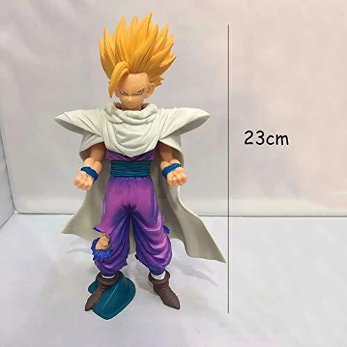 HBJP Modelo de Anime Dragon Ball, PVC Estatua de colección de Juguetes for niños, Estatua de Juguete Decorativa de Escritorio Modelo de Juguete, Son Gohan (23cm)