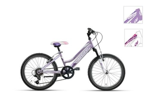 BICICLETA DE CICLISMO MONTANA VEKTOR ESCAPE HI TEN 20 LADY 6 V REGALO LED COLOR MORADO