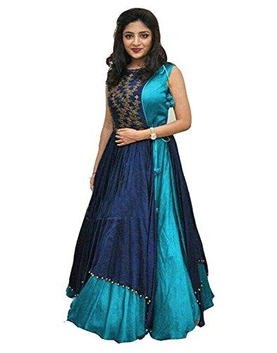 Vastra Fab Deal Women's Embroidary Lehenga Choli (Color: Blue Free Size)