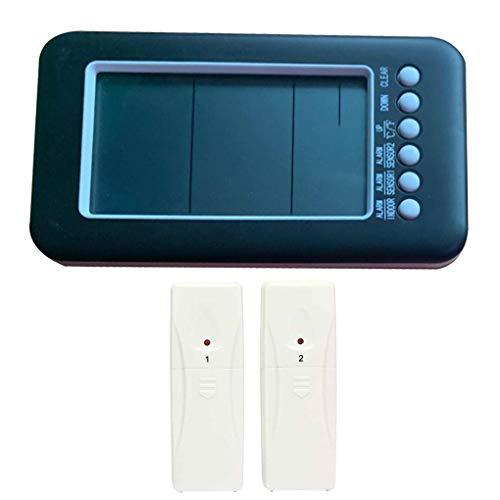 Drahtlose Innen Außen-Thermometer mit 2 Remote Sensor Digital-Max/Min Wert Temperaturmessung Meter Elektronischen Tester fgyhty -