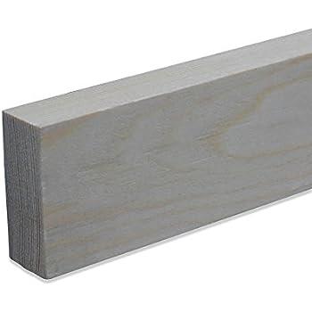 Rechteckleiste Bastelleiste Abschlussleiste aus unbehandeltem Buche-Massivholz 2100 x 9 x 37 mm