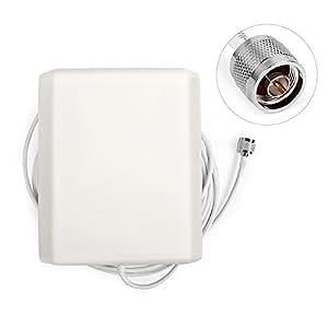 GSM 3G Antenne à gain élevé de mur interne Antenne directionnelle pour panneau intérieur 824-2500MHz pour le répéteur de répéteur de téléphone portable avec 5 m de câble