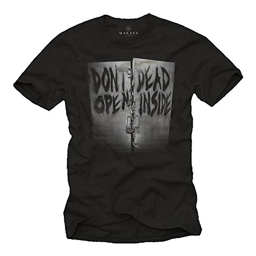 Maglietta Don´T Open - T-Shirt Walking Dead Nera Uomo Horror storry XL