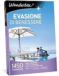 WONDERBOX Cofanetto Regalo per Coppia - EVASIONE di Benessere - 1450 ESPERIENZE per 2 Persone