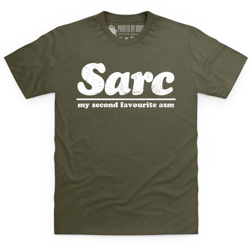 Second Favourite Sarcasm T-Shirt, Herren Olivgrn