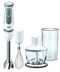 Idea Regalo - Braun MQ5035 Sauce Mixer a Immersione, Minipimer, 750 W, Plastica, Bianco
