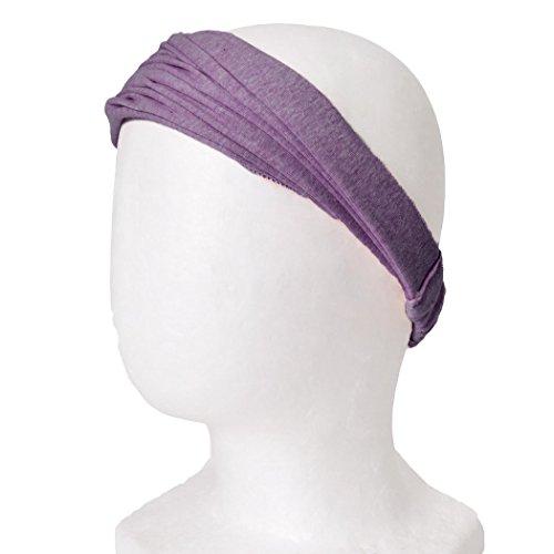 CHARM Casualbox Vorgebunden Bandana Bio Baumwolle Stirnband Herren Damen Kopf Bänder Lila