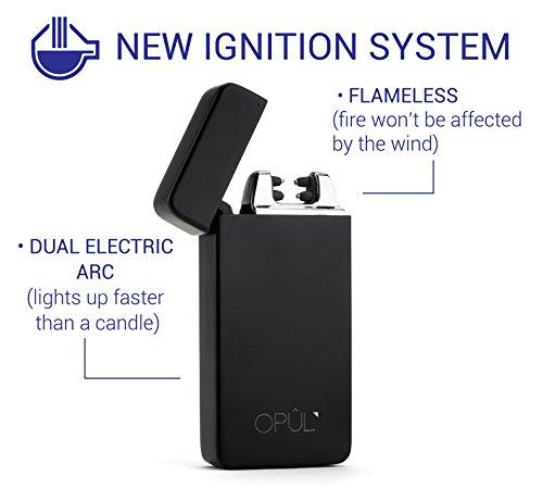 Lichtbogen-Feuerzeug, elektrischer USB-Zigarettenanzünder ohne Flamme, wiederaufladbares, windsicheres Elektrowerkzeug von Opul -