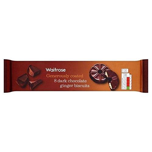 Dunkle Schokolade-Ingwer-Shortcake Ring Waitrose 180G (Packung mit 2) (Dunkle Schokolade-cracker)