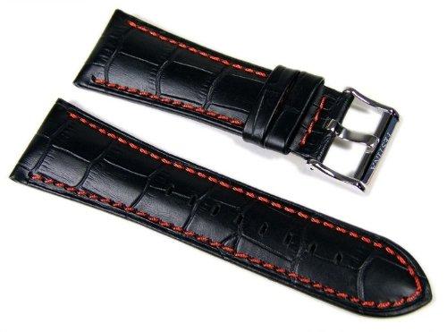 Festina Marken Uhrenarmband Leder 28mm schwarz/orange F16235/3 F16235 F16294