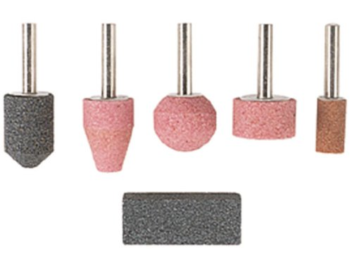 Wolfcraft 2144000 Mounted Stones Plus Dressing Stone with 6mm Shank Test