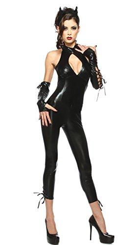 HAOBAO Halloween PU siamesische Katze Kostüm Rollenspiel Spiel Uniformen
