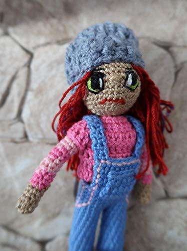 Muñeca amigurumi en lana, crochet ganchillo peluche niño niña mujer