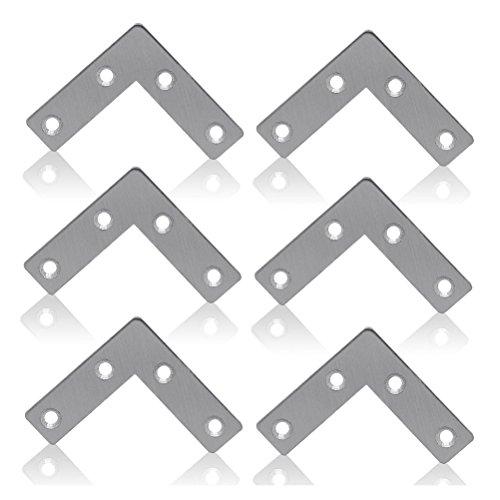 BESTOMZ 10pcs L-Form Stahl Ecke spitzen Klammern Klammer fest Platte Connector Reparatur Blatt,60 mm * 60 mm -