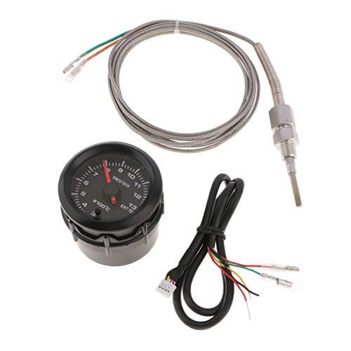 F Fityle Abgastemperaturanzeige Digital Temperaturanzeige Für Meisten Benzinfahrzeuge