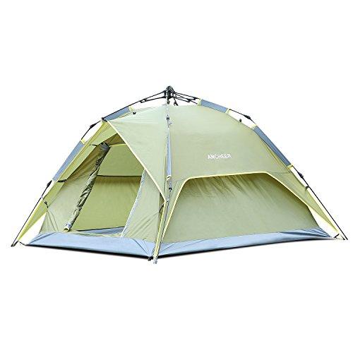 Ancheer Strand Camping Zelte Automatik Pop Up Zelt Wasserdichtes Kuppelzelt für 2 Personen Familienzelt mit Tragetasche für Outdoor Sport, Wandern, Reisen (Typ1)