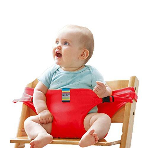 Sicherheitsgurt für Hochstuhl, Isuper Tragbarer Stuhl Gürtel für Baby Stuhl-Sitzgurt, Rot -