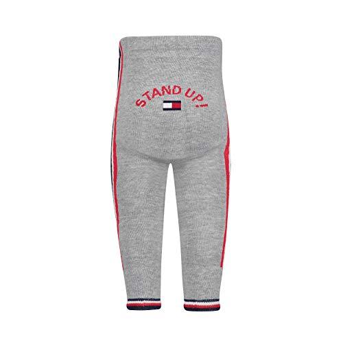 Tommy Hilfiger Unisex Strumpfhose TH Baby Tracksuit Pants 1P, Grau (Middle Grey Melange 758), One Size (Herstellergröße: 86/92)