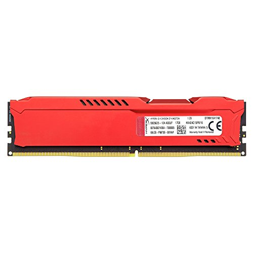 Cheapest HyperX HX424C15FR/16 16 GB 2400 MHz DDR4 CL15 DIMM 1.2 V 288 Pin Memory Kit, Red on Line