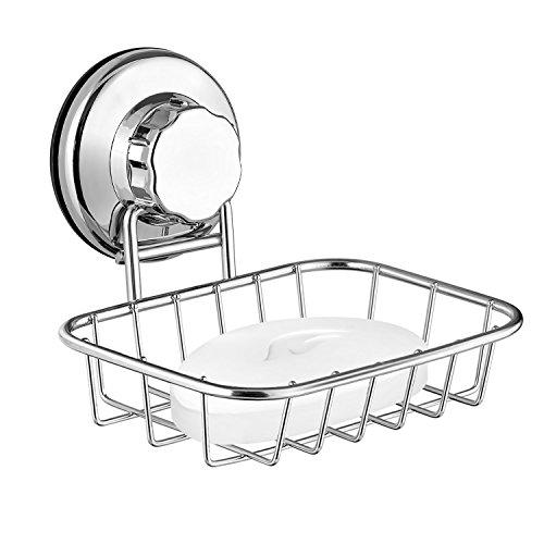 ARCCI Saugnapf-Seifenschale, Super leistungsstarker Saugnapf aus starkem Edelstahl für Dusche, Bad und Küche