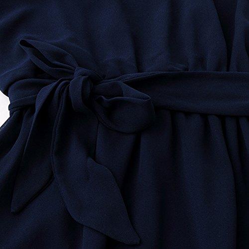 Chez BoBos -  Vestito  - stile impero - Senza maniche  - Donna Blu marino