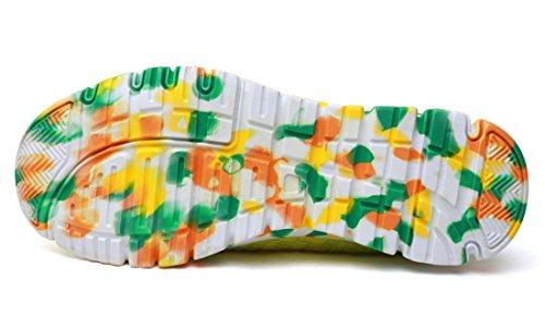 TDA ,  Damen Durchgängies Plateau Sandalen mit Keilabsatz Gelb