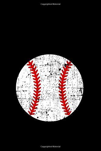 Baseball Journal: College Rule Journal Grunge Distressed White Baseball Notebook por Giftfulnest Journaling
