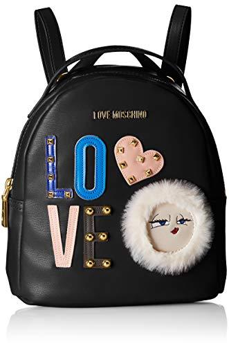 Love Moschino Borsa Pu - Borse a zainetto Donna, Nero, 10x22x20 cm (B x H T)