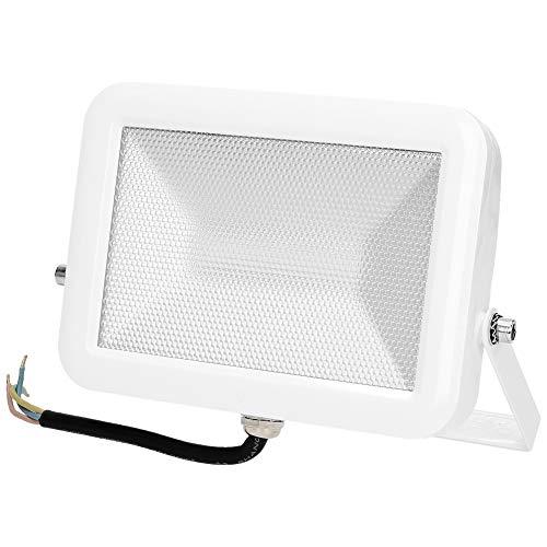 ORNO OR-NL-380WL5v Led Strahler 20W | Slim | weiß | Externer und interner LED 50W-Strahler mit Netzkabel | wasserdicht IP65 | Super hell (20) - Externe Netzkabel
